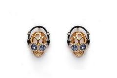 Elegance Earings. Isolated on White Background Stock Image