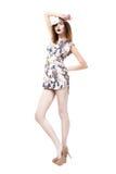 Elegance. Fashionable Trendy Graceful Woman standing. Urban Fashion Stock Photography