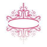 Elegance feminine tiara with reflection. Stock Photos