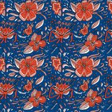 Elegance floral seamless pattern. Flowers and leaves. Can be used for invitations, cards or print. Royalty Free Stock Photos