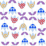 Elegance floral  seamless pattern and seamless pattern in swatch Royalty Free Stock Photo