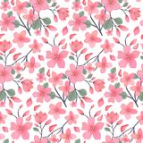 Elegance floral summer or spring pattern template. Seamless pastel vintage pattern for decorating textile, paper or any background. Different colors are Royalty Free Stock Photos