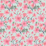 Elegance floral summer or spring pattern template. Seamless pastel vintage pattern for decorating textile, paper or any background. Different colors are Stock Image