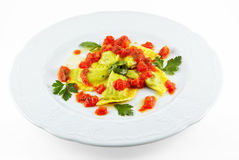 Elegance food - ravioli Royalty Free Stock Photos