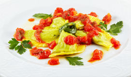 Elegance food - ravioli Stock Photos