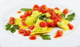 Elegance food - ravioli Stock Photos