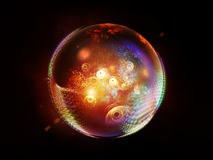 Elegance of Fractal Sphere Stock Images