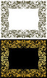 Elegance frame in floral style Royalty Free Stock Images