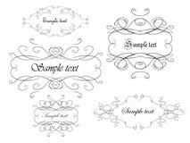 Elegance frames Stock Image