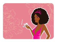 Elegance girl Stock Image