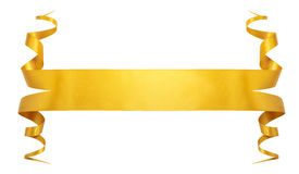 Elegance gold ribbon. With shadow and lights Royalty Free Stock Photos