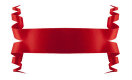 Elegance gold ribbon. Elegance red ribbon with shadow and lights Stock Photos