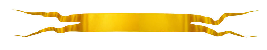Elegance gold ribbon. With shadow and lights Stock Photography