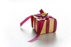 Elegance Golden Gift Box Royalty Free Stock Photos