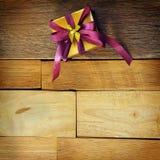 Elegance Golden Gift Box Royalty Free Stock Photo