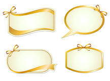 Elegance graphic sign with ribbon Stock Photo