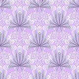 Elegance lace 3d greek floral vector seamless pattern. Ornamenta. L light violet patterned background. Ethnic tribal style repeat geometric backdrop. Ancient vector illustration