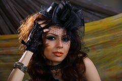 Elegance lady head shot Royalty Free Stock Images