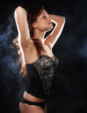 Elegance lady in the lingerie Royalty Free Stock Photos