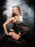 Elegance lady in the lingerie Stock Image