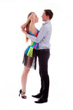 Elegance Latino dancers in action Royalty Free Stock Photography