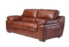 Elegance leather sofa Royalty Free Stock Photos