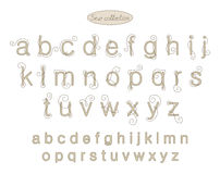 Elegance light beige color embroidery letters Stock Images