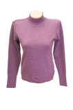 Elegance, lilac sweater for women on a white. Royalty Free Stock Photos