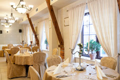 Elegance luxury restaurant Stock Photography