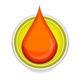 Elegance Medic Symbol Blood Drop Red Color Royalty Free Stock Photos