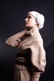 Elegance model. Retro portrait of a styled professional model. Shot in studio Royalty Free Stock Photos