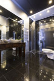 Elegance in modern bathroom Royalty Free Stock Images