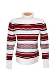 Elegance modern sweater on a white. Stock Photography