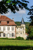 Elegance old french chateau in Alsace Stock Images