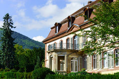 Elegance old french chateau in Alsace. Summer time Stock Image