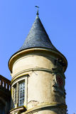 Elegance old french chateau in Alsace Royalty Free Stock Image