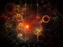Elegance of Particle Grid Stock Photos