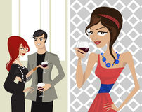 Elegance party. And celebration illustration vector Royalty Free Stock Photos