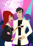 Elegance party character Stock Photo