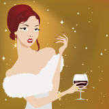 Elegance party woman Stock Photography