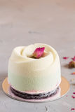 Elegance pastry cake with rose Stock Photography