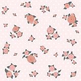 Elegance pattern with retro pink roses Stock Images