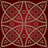 Elegance pattern in wine red colours Royalty Free Stock Image