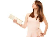 Elegance. Portrait of girl showing elegant handbag Stock Photography
