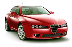 Elegance prestige red coupe Royalty Free Stock Photography