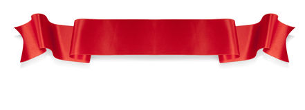 Elegance red ribbon banner Stock Image
