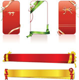 Elegance Ribbon Vector Set Border Royalty Free Stock Photos