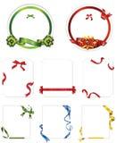 Elegance Ribbon Vector Set Border Stock Photos
