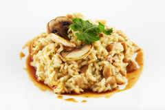 Elegance rice with mushrooms food Royalty Free Stock Photo