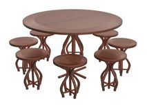 Elegance Round Table Chair Set_Raster Stock Photo